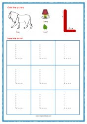 Tracing Letters - Letter Tracing Worksheets - Capital L - Free Preschool Printables Free Printable Alphabet Worksheets, Alphabet Writing Practice, Handwriting Practice Worksheets, Alphabet Tracing, Preschool Printables, Free Printables, Free Preschool, Preschool Activities