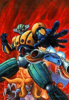 Tranzor Z (Mazinger Z) vs Steel Jeeg (Kotetsushin Jeeg) - Battles - Comic Vine Vintage Robots, Retro Robot, I Robot, Old Cartoons, Classic Cartoons, Robot Cartoon, Japanese Robot, Japanese Superheroes, Mecha Anime