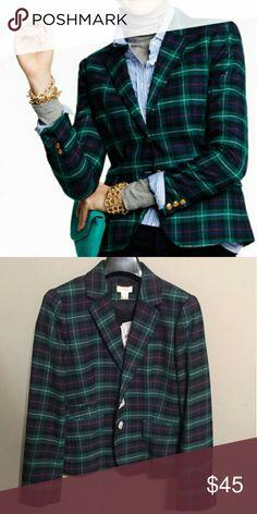 J. Crew Blazer Classic black watch plaid blazer. Worn 2x. Basically new. Collecting dust in my closet.  Make an offer! J. Crew Jackets & Coats Blazers