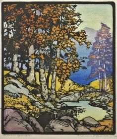 Frances Gearhart color block prints at the Pasadena Museum of California Art - latimes.com