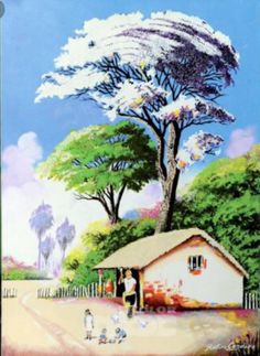 Scenery Paintings, Iris, World, Watercolors, Group, Landscaping, Landscape Paintings, Flower Pots, Illustrations