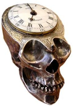 Skulls:  #Skull clock.