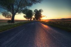 Hungary country side sunset