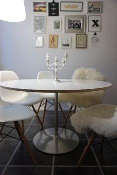 Melkein DIY: Valkoinen pyöreä vaneripöytä