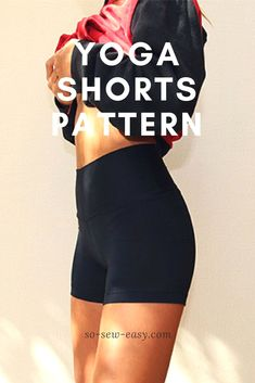 These yoga shorts are great for exercise, or just comfortable loungewear! Mayra from So Sew Easy has a free sewing pattern and tutorial showing how to make them. Her free pattern comes in women… Sewing Hacks, Sewing Tutorials, Sewing Tips, Sewing Ideas, Leftover Fabric, Yoga Shorts, Love Sewing, Sewing Projects For Beginners, Diy Projects