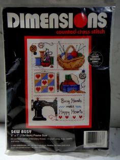 Vintage Dimensions Sew Busy Counted Cross Stitch Kit #6683 Sewing Knitting USA #Dimensions #Frame #fashion #style #arts #crafts