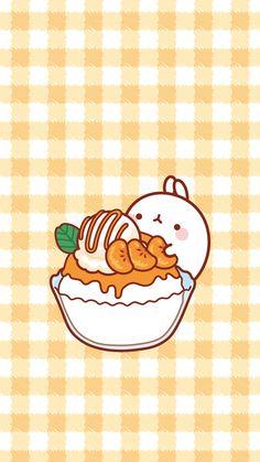 Molang and tangerine sundae