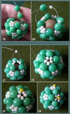 beaded flower ball