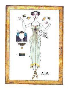 """Legacy of Pride, Volume II, Number III: The Sopranos or, A Night at the Opera: Verdi's """"Aida,"""" a paper doll by Donald Hendricks (7 of 10) 