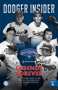 The seventh 2016 issue of the new Dodger Insider magazine, featuring a salute to the Old-Timers Game on the cover     **  Dodgers Blue Heaven: Rockies Series Starts on Friday - Stadium Giveaways, Pregame Info and Other Stuff!