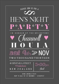 Hens Night invitation