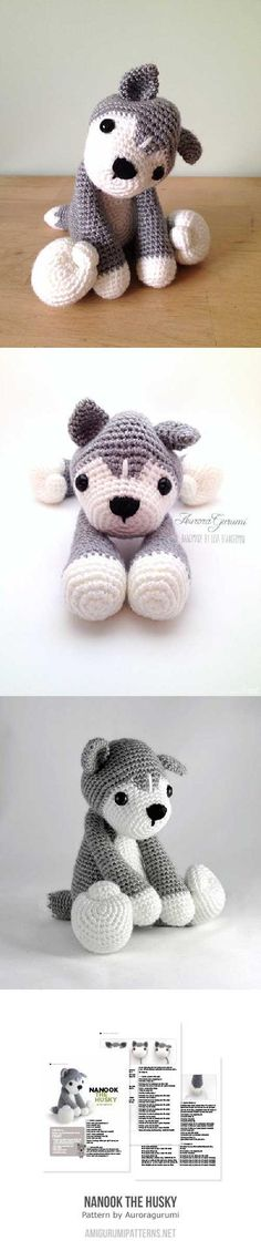 Nanook the husky amigurumi pattern by AuroraGurumi