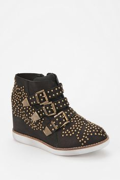 Jeffrey Campbell Stud Buckle Wedge-Sneaker Online Only