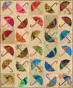 dancing umbrella quilt pattern   via brit wellens
