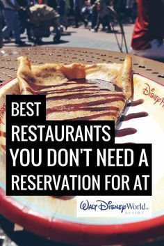 Here are the best Disney World restaurants that you don't need a reservation for. Just walk in and enjoy a magical meal without stressing about reservations Restaurant Disney, Best Disney World Restaurants, Walt Disney World Vacations, Disney Parks, Disney Travel, Disney Usa, Disneyland Vacations, Disneyland Tips, Disney Resorts