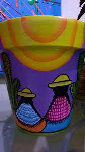 Flower Pot Crafts, Clay Pot Crafts, Diy And Crafts, Arts And Crafts, Diy Clay, Painted Clay Pots, Painted Flower Pots, Hand Painted, Mexican Flowers