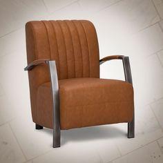 #fauteuil #eleonora #PU-leder #leer #metaal #vintage #retro #wooninrichting