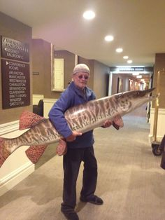 Can you believe Bernie caught this at the Arts of The Angler show
