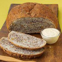 Whole Grain Nut Bread Uses steel cut oats, sunflower seeds, flax seeds and walnuts Nut Bread Recipe, Bread Recipes, Cooking Recipes, Yummy Recipes, Healthy Treats, Healthy Foods, Healthy Recipes, Bread Winners, Frozen Bread Dough