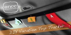 """Vacation Trip Tracker ~ This trip tracker is perfect for your """"are we there yets?"""".  Cut out state shapes with felt and add a toy car with velcro to each state.  When you travel through each state the toy car moves to the state and the kids get a brown bag prize."""