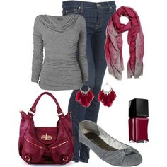 Fall Outfit, cute shoes! I need to find this scarf!