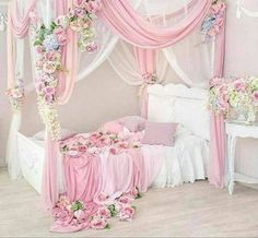 I could do this with the bed I have by suspending the canopy curtains from the ceiling. I can paint the bed white. http://amzn.to/2qWZ2qa