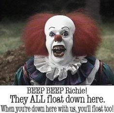 Pennywise the killer clown or Pennywise the scary clown is one of Stephen King's best creations spanning many generations of horror fans. Here are the top 10 th. Gruseliger Clown, Creepy Clown, Creepy Stuff, Clown Pics, Clown Mask, Scary Things, Funny Things, Hemlock Grove, Scary Movies