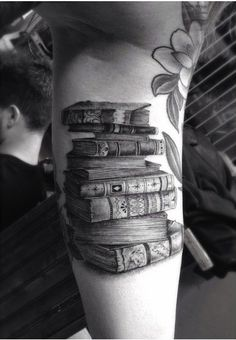I'd want a stack of these down my spine, with titles of some of the literature that has impacted me the most. I'd leave blank ones so as to add to them as I age