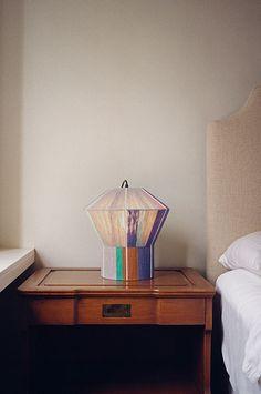 Lamp by artist Ana Kras, from Steven Alan blog.