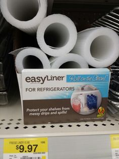 Easy Fridge Shelf Liner Use Press N Seal Saran Wrap To