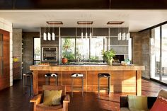 Modern and Warm Kitchen Interior Design of The Brown Residence by Craig Schultz, California