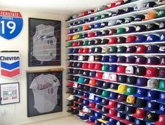 Hat Racks For Baseball Caps Classy Cap Storage System Submittednew Era Fan Scotty M Organize Design Inspiration