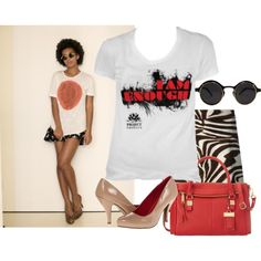 """Say It With A T-shirt"" by lekia-lee on Polyvore"