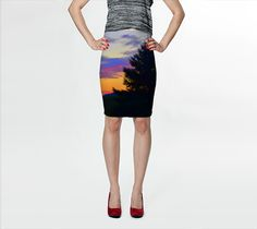 """Fitted+Skirt+""""West+Brome+Sunset+Fitted+Skirt""""+by+Nadia+Bonello+(Trū+Images)"""