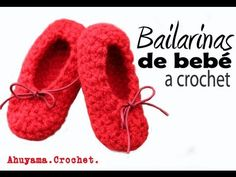 Bailarinas para Bebé a Crochet - PASO A PASO there are many more just go to this site to see them all