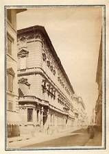 Rome The Corso Roma Small vintage albumen photo 1858/60c S455