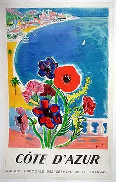 1947 Cote D'Azur Poster by Tal