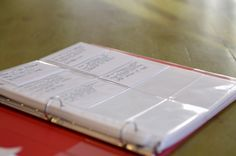 Great idea for that ever-changing address book! No more erasing. Just remove card and make a new one!