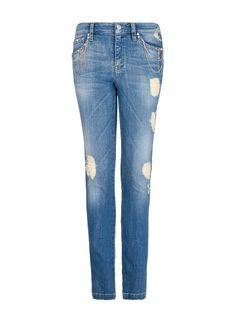 MANGO - Jeans super slim cadenas