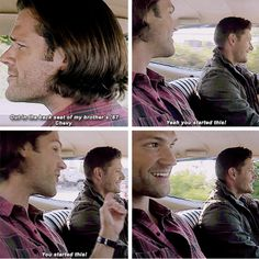 """11x04 Baby [gifset] - """"You started this!"""" - Sam and Dean Winchester; Supernatural"""