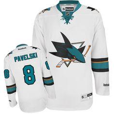 33b89c24 Authentic Logan Couture White Men's NHL Jersey: San Jose Sharks Reebok Away