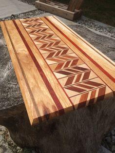 Handmade Chevron Cutting Board by OCGWoodshop on Etsy