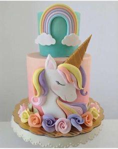 36 Ideas For Birthday Cake Unicorn Fondant Unicorn Birthday Parties, Unicorn Party, Cake Birthday, 5th Birthday, Unicorn Foods, Unicorn Cakes, Girl Cakes, Savoury Cake, Cute Cakes