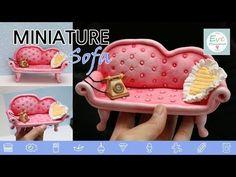 미니어쳐 럭셔리 쇼파 만들기 아이클레이로 인형의집~ Miniature luxury Sofa tutorial dollhouse furniture - YouTube