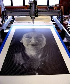 CNC drawing.  Amazing.