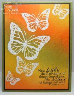 stampin up beautiful butterflies | handmade card from Stampin' Away the Day: SNSS: Majestic Monarchs ...