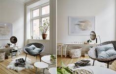 Wat een heerlijk rotan stoel om in te ontspannen.  Meer interieur inspiratie op http://www.interieurinspiratie.nl/
