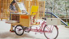 Sericleta Screen Printing Machine, Screen Printer, Silk Screen Printing, Diy Printing, Mobile Art, Mobile Shop, Art Cart, Displays, Bike Store