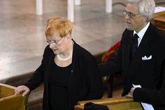 President of Finland Tarja Halonen and her spouse Pentti Arajärvi. Helsinki in Finland. Photos: IS/HS/Lehtikuva/VNK)