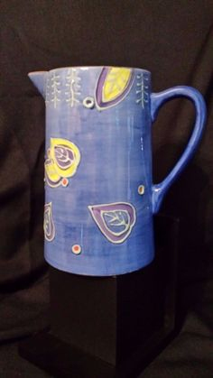 CERAMIC WATER PITCHER BY BLOCK BASICS--Sonora Pattern #BLOCK